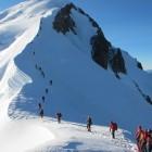 Schlange am Mont Blanc
